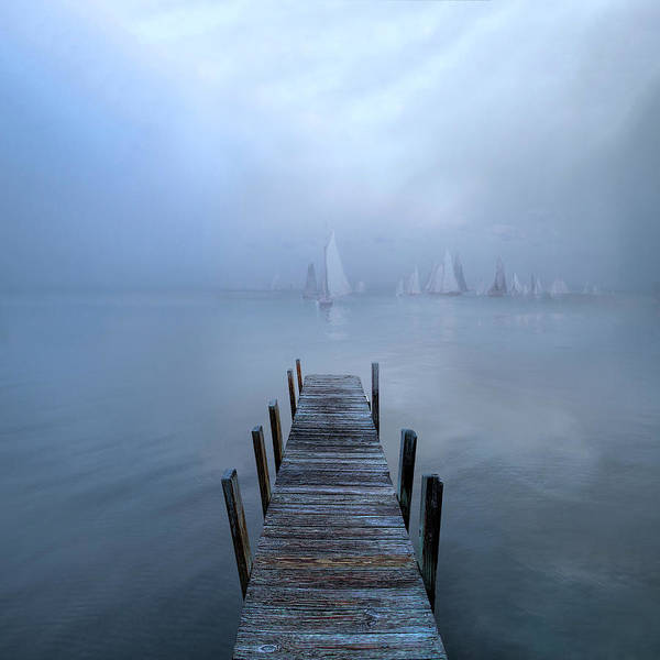 Photograph - Sailing Into Blue by Debra and Dave Vanderlaan
