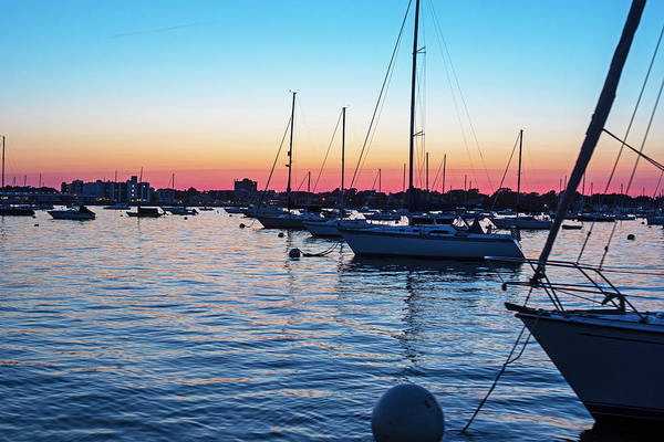 Photograph - Sailing Into Salem Harbor At Sunset Salem Ma by Toby McGuire