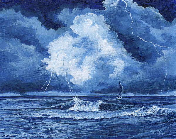 Painting - Sailing Into The Storm by Darice Machel McGuire