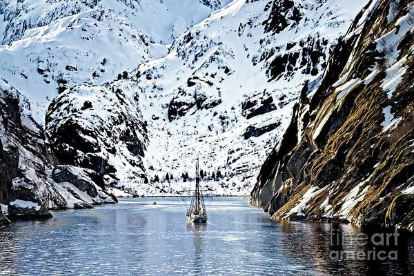 Photograph - Sailing Into Trollfjord Norway by Martyn Arnold