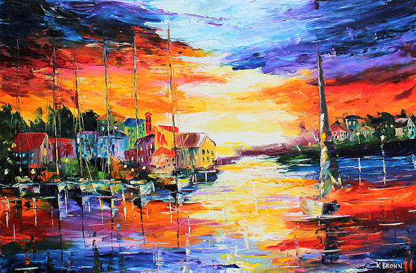 Painting - Sailing by Kevin Brown