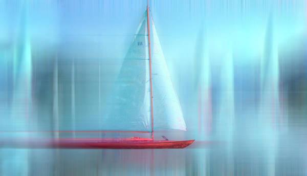 Digital Art - Sailing Nautical Blues Painting Dreamscape by Debra and Dave Vanderlaan