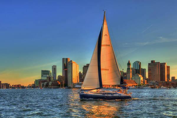 Photograph - Sailing On Boston Harbor by Joann Vitali