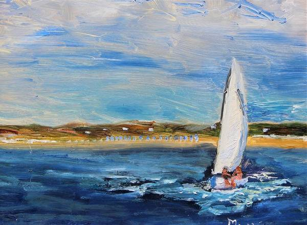 Painting - Sailing Provincetown Waters by Michael Helfen