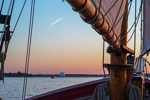 Photograph - Sailing Salem Harbor At Sunset Salem Ma by Toby McGuire