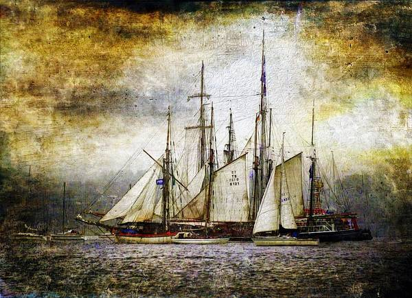 Cruiser Painting - Sailing Ship by ArtMarketJapan