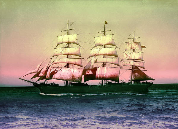 Digital Art - Sailing Ship Balclutha  by Robert G Kernodle