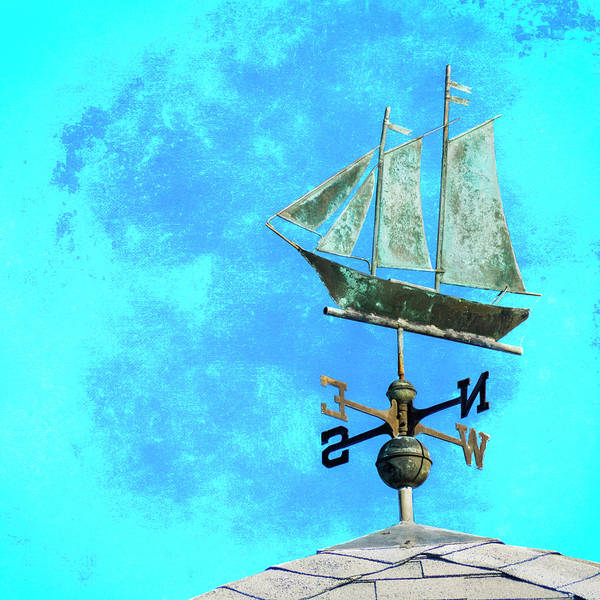 Wall Art - Mixed Media - Sailing Ship Weathervane by Carol Leigh