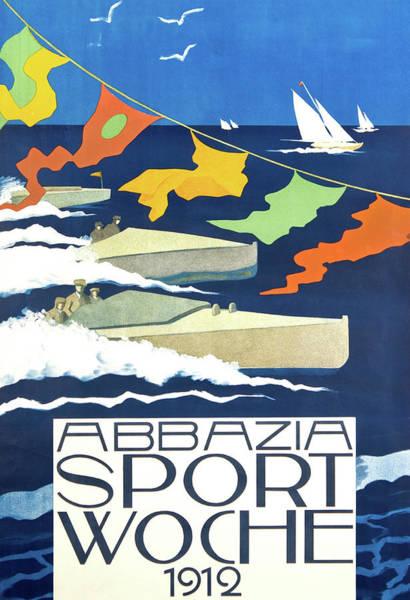 Sails Digital Art - Sailing Sport In Opatia by Long Shot