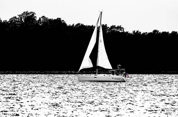 Wall Art - Photograph - Sailing The Patapsco Color Select by Brian Wallace