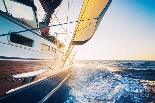 Sailing To The Sunrise Art Print