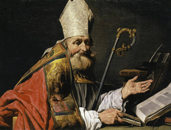 Wall Art - Painting - Saint Ambrose by Matthias Stomer