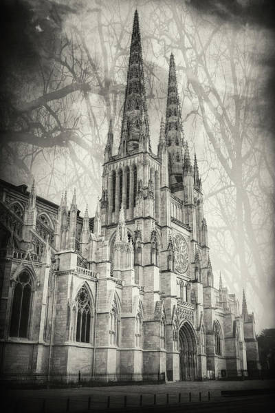 Wall Art - Photograph - Saint Andre Cathedral Bordeaux France Black And White by Carol Japp