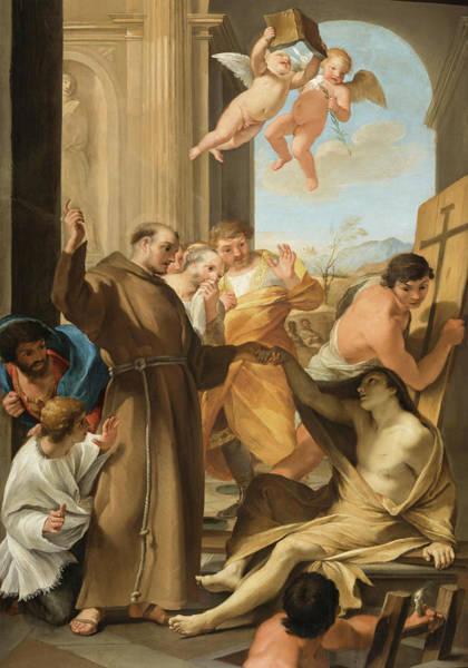 Saint Anthony Abbot Reviving A Dead Man, 1635 Art Print