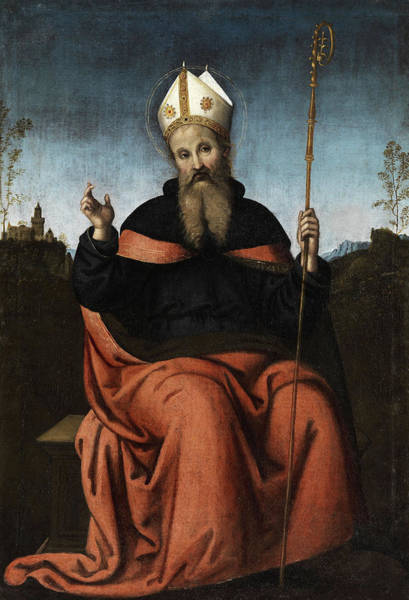 Wall Art - Painting - Saint Augustine Of Hippo by Berto di Giovanni