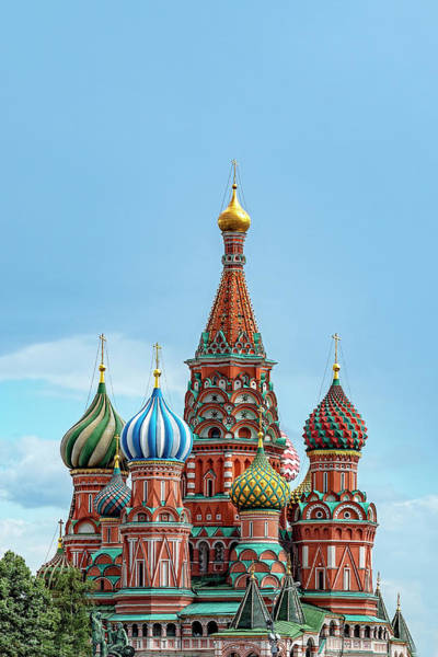 Wall Art - Photograph - Saint Basil's Cathedral, Moscow by Kay Brewer