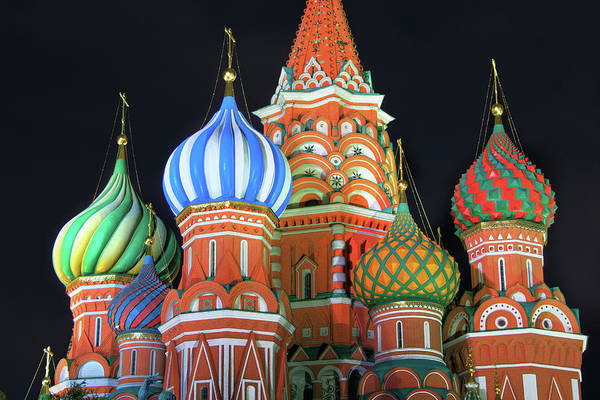 Onion Domes Photograph - Saint Basils Cathedral On Red Square by Lars Ruecker