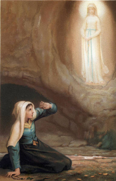 Holy Ghost Drawing - Saint Bernadette Of Lourdes by Unknown