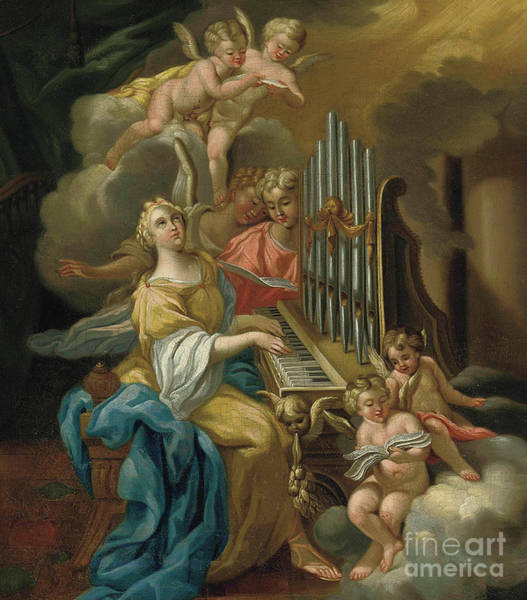 Wall Art - Painting - Saint Cecilia By Michele Rocca by Michele Rocca
