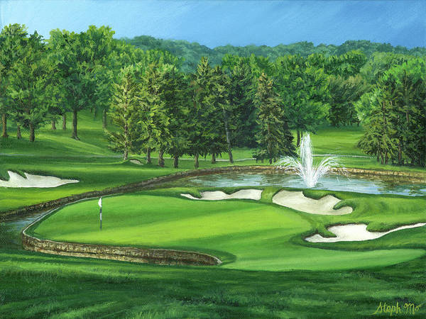 Painting - Saint Clair Country Club by Steph Moraca