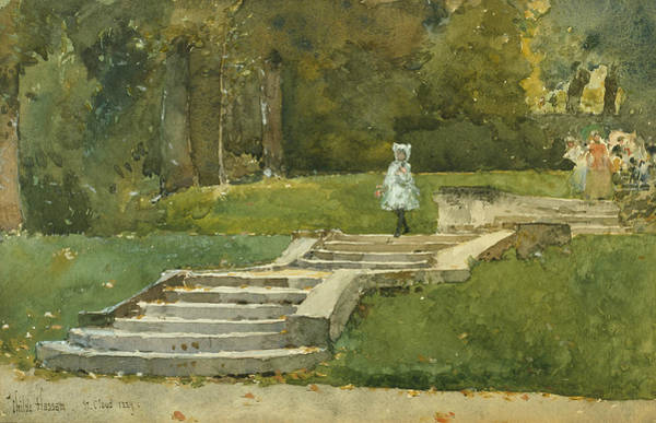 Wall Art - Drawing - Saint-cloud by Childe Hassam