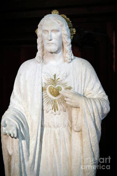 Wall Art - Photograph - Saint Etienne Du Mont Church, The Sacred Heart Of Jesus by Unknown