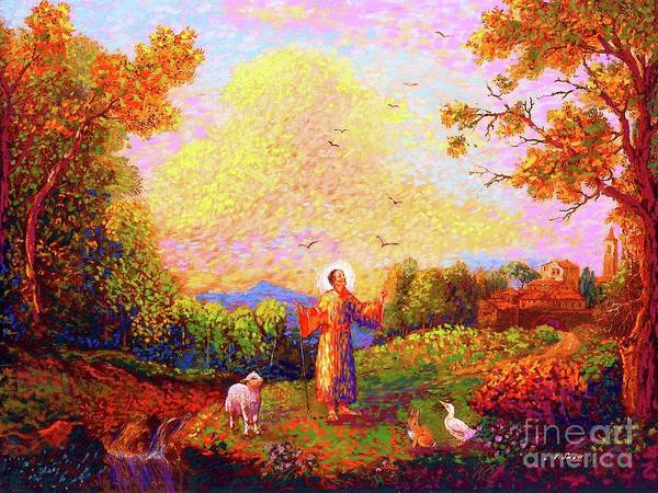 Church Painting - Saint Francis Of Assisi by Jane Small