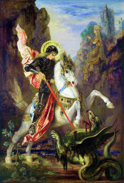 Wall Art - Painting - Saint George And The Dragon - Digital Remastered Edition by Gustave Moreau