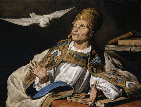 Wall Art - Painting - Saint Gregory by Matthias Stomer