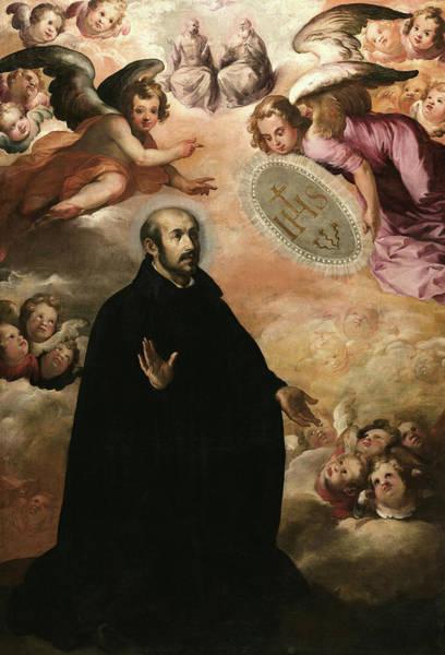 Wall Art - Painting - Saint Ignatius Of Loyola, 1625 by Francisco de Herrera El Viejo