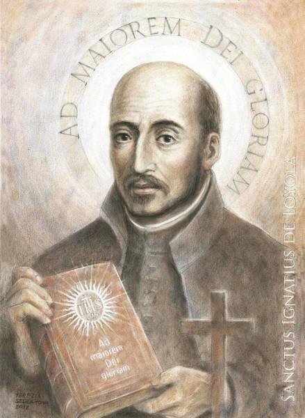 Wall Art - Painting - Saint Ignatius Of Loyola 2 by Terezia Sedlakova