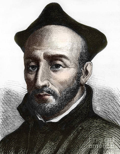 Wall Art - Drawing - Saint Ignatius Of Loyola Founder Of The Society Of Jesus by Spanish School