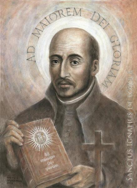 Wall Art - Painting - Saint Ignatius Of Loyola by Terezia Sedlakova
