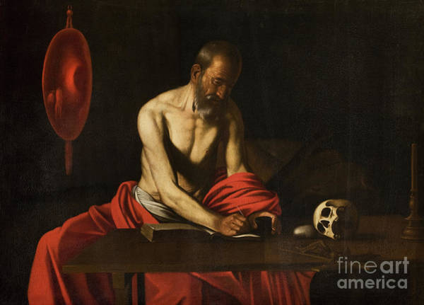 Wall Art - Painting - Saint Jerome, 1607  by Caravaggio