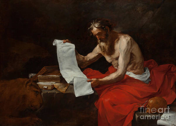 Wall Art - Painting - Saint Jerome, 1646 by Jusepe de Ribera