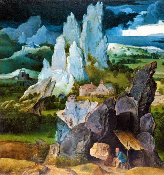 Wall Art - Painting - Saint Jerome In A Rocky Landscape - Digital Remastered Edition by Joachim Patinir