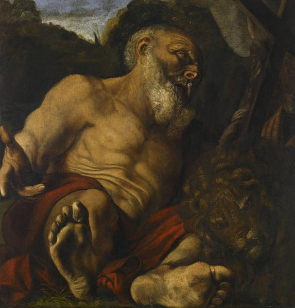 Painting - Saint Jerome In The Wilderness by Angelo Caroselli