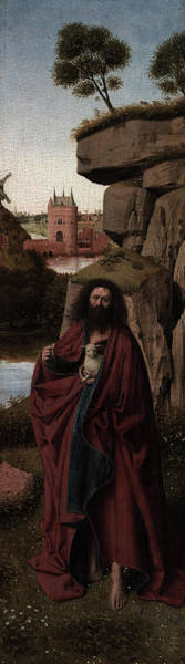 Wall Art - Painting - Saint John The Baptist In A Landscape, 1445 by Petrus Christus