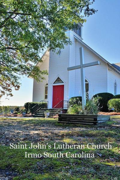 Photograph - Saint John's Lutheran Church Irmo South Carolina by Lisa Wooten