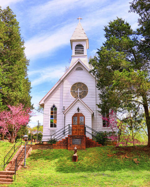 Photograph - Saint Joseph Roman Catholic Church In Columbia Virginia by Ola Allen