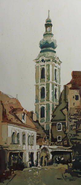 Painting - Saint Jost Church by Jenny Armitage