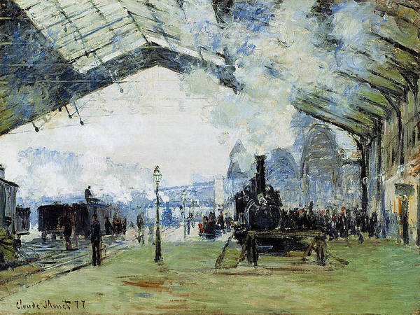 Lazare Painting - Saint-lazare Gare,  Normandy Train, 1887 by Claude Monet