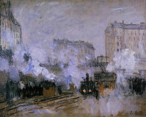 Lazare Painting - Saint-lazare Station, Arrival Of A Train, 1877 by Claude Monet