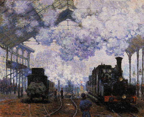 Lazare Painting - Saint-lazare Station, Exterior,  1876 by Claude Monet
