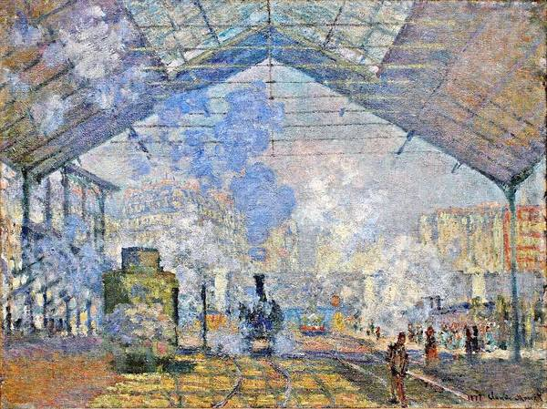Lazare Painting - Saint-lazare Station, Exterior View,  1877 1 by Claude Monet