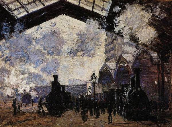 Lazare Painting - Saint-lazare Station, Exterior View, 1877 by Claude Monet