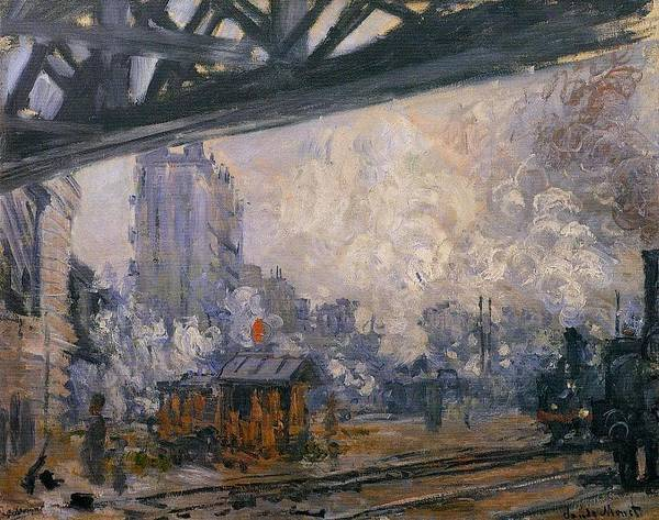 Lazare Painting - Saint-lazare Station, Exterior View, 1887 by Claude Monet