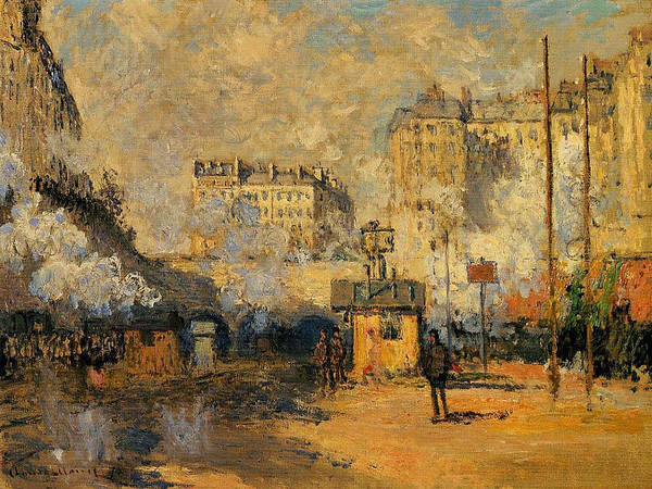 Lazare Painting - Saint-lazare Station, Sunlight Effect, 1877 by Claude Monet