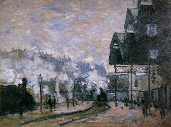 Lazare Painting - Saint-lazare Station, The Western Region Goods Sheds, 1877 by Claude Monet