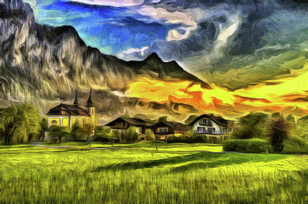 Wall Art - Photograph - Saint Lorenz Austria Van Gogh by David Pyatt
